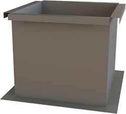 Itho Daalderop schoorsteen alu plakplaat plat dak hoogte 400mm (geisoleerd)