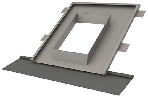 Indekstuk hellend dak 25 - 60 graden voorzien van loodvervanger