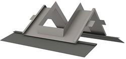 Itho Daalderop schoorsteen indekstuk nok dak voorzien van loodvervanger (25 - 60 gr.)