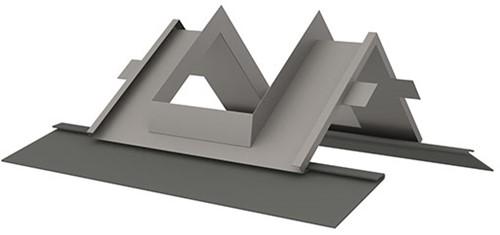Indekstuk nok dak 25 - 60 graden voorzien van loodvervanger