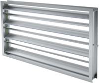 Contraroterende klepsectie B=500 x H=1400 aluminium