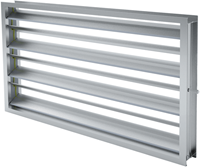Contraroterende klepsectie B=500 x H=900 aluminium