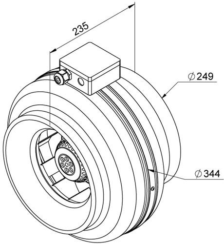 Ruck buisventilator 890m³/h - Ø  250 mm (RS 250)-2