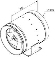 Ruck ETALINE D buisventilator 4210m³/h - Ø 315 mm (EL 315 D2 01)-2