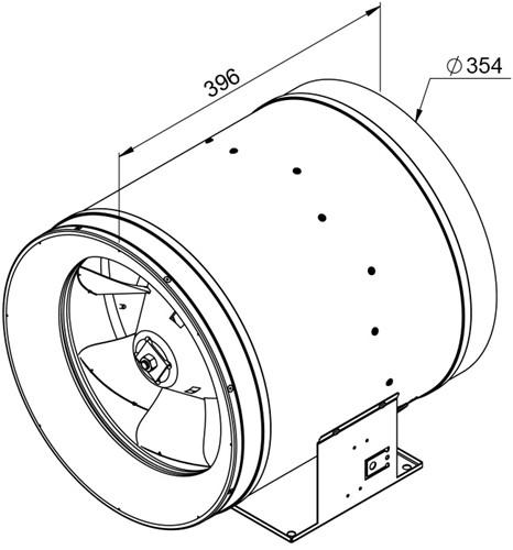 Ruck ETALINE D buisventilator 4970m³/h - Ø 355 mm (EL 355 D2 01)-2