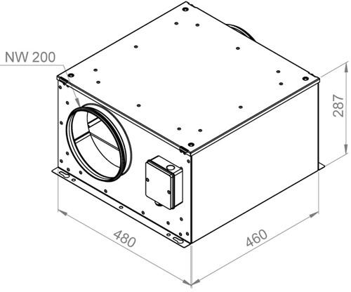 Ruck geïsoleerde boxventilator 730m³/h -Ø  200 mm (ISOR 200 E2 11)-2