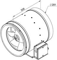 Ruck ETALINE E buisventilator 2360m³/h - Ø 280 mm (EL 280 E2 02)-2