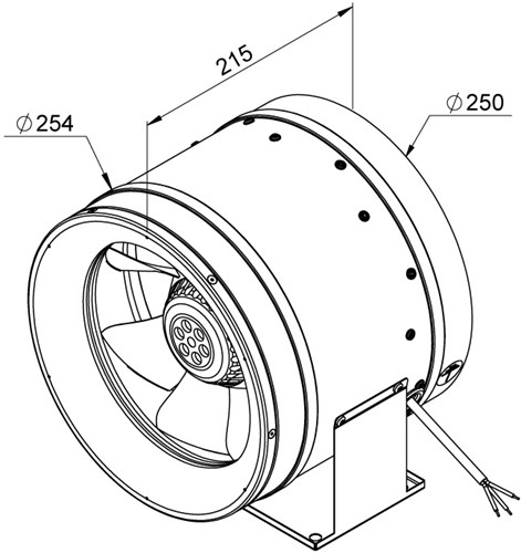 Ruck ETALINE E buisventilator 1625m³/h - Ø 250 mm (EL 250 E2 06)-2