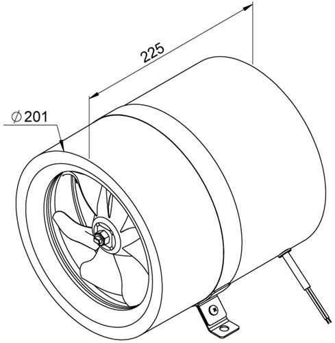 Ruck ETALINE E buisventilator 920m³/h - Ø 200 mm (EL 200 E2 01)-2