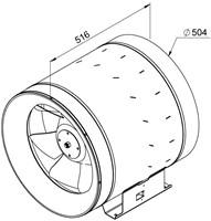 Ruck ETALINE E buisventilator 6950m³/h - Ø 500 mm (EL 500 E4 01)-2