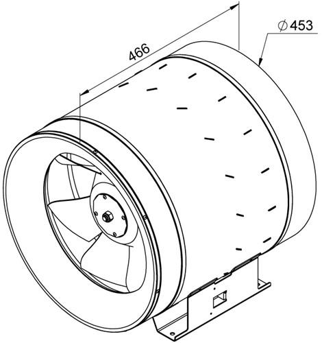 Ruck ETALINE D buisventilator 7350m³/h - Ø 450 mm (EL 450 D4 01)-2
