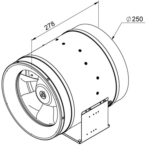Ruck ETALINE D buisventilator 2390m³/h - Ø 250 mm (EL 250 D2 01)-2
