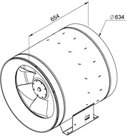 Ruck ETALINE E buisventilator 13940m³/h - Ø 630 mm (EL 630 E4 01)-2