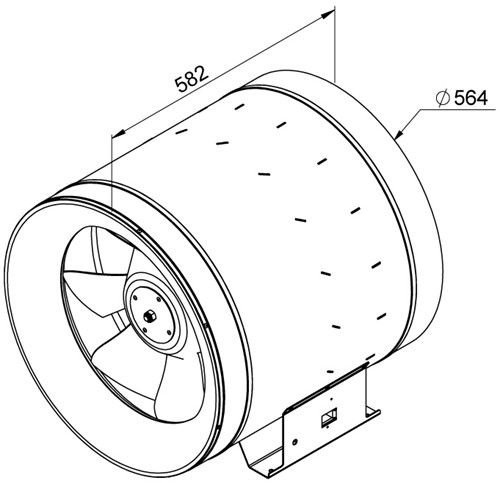 Ruck ETALINE E buisventilator 9550m³/h - Ø 560 mm (EL 560 E4 01)-2