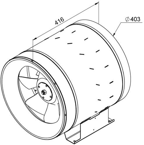 Ruck ETALINE D buisventilator 5160m³/h - Ø 400 mm (EL 400 D4 01)-2