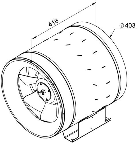 Ruck ETALINE E buisventilator 3440m³/h - Ø 400 mm (EL 400 E4 01)-2