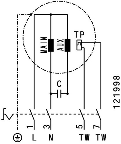 Ruck dakventilator voor keukenafzuiging tot 120°C  - 3100 m³/h - (DVN 280 E2 20)-3