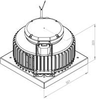 Ruck kunststof dakventilator met apparaatschakelaar - 900m³/h (DHA 220 E2P 01)-2