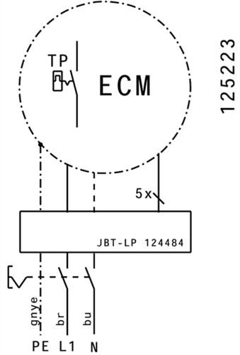 Ruck kunststof dakventilator met constante drukregeling en EC motor- 1370m³/h (DHA 250 EC CP 20)-3