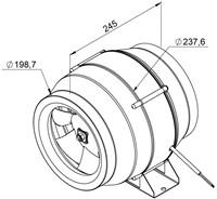 Ruck ETALINE E buisventilator 880m³/h - Ø 200 mm (EL 200L E2 01)-2