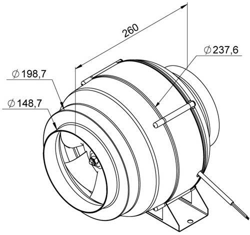 Ruck ETALINE E buisventilator 770m³/h - Ø 150 mm (EL 150L E2 01)-2
