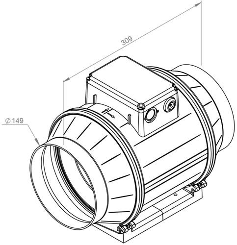 Ruck ETAMASTER M buisventilator 600m³/h -Ø  150 mm (EM 150L E2M 01)-2