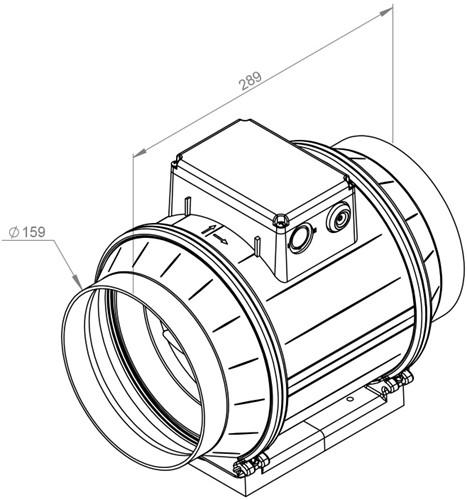 Ruck ETAMASTER M buisventilator 615m³/h -Ø  160 mm (EM 160L E2M 01)-2