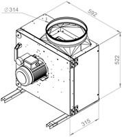 Ruck boxventilator 3400m³/h - Ø 314 mm (MPS 280 E2 20)-2