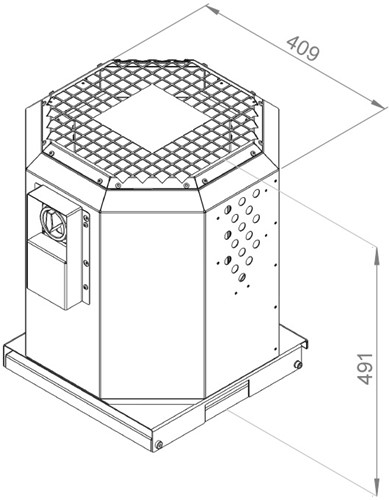 Ruck dakventilator voor keukenafzuiging tot 120°C  - 1990 m³/h - (DVN 250 E2 20)-2