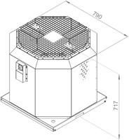 Ruck dakventilator voor keukenafzuiging tot 120°C  - 6130 m³/h - (DVN 450 E4 20)-2