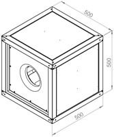 Ruck boxventilator met motor buiten luchtstroom 2610m³/h (MPC 250 E2 T20)-2