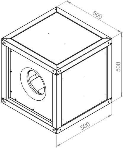 Ruck boxventilator met motor buiten luchtstroom 3340m³/h (MPC 280 E2 T20)-2