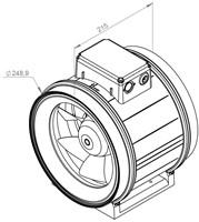 Ruck ETAMASTER M buisventilator 1625m³/h -Ø  250 mm (EM 250 E2M 01)-2