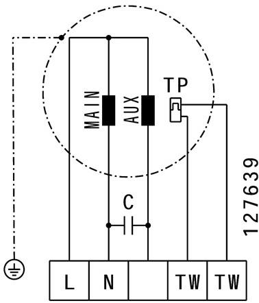 Ruck boxventilator met spanningsregeling en motor buiten de luchtstroom 2490 m³/h (MPS 250 E2 20)-3