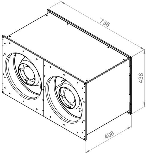 Ruck Etaline kanaalventilator 7150m³/h - 700x400 (ELKI 7040 E2 10)-2