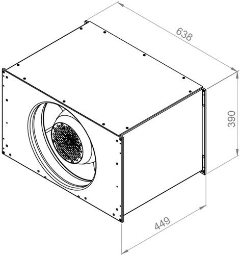 Ruck Etaline kanaalventilator 3510m³/h - 600x350 (ELKI 6035 E2 12)-2