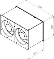 Ruck Etaline kanaalventilator 4940m³/h - 600x350 (ELKI 6035 E2 11)-2