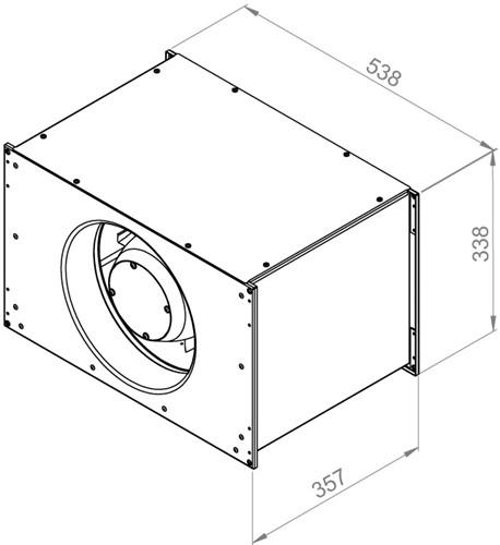 Ruck Etaline kanaalventilator 2420m³/h - 500x300 (ELKI 5030 E2 10)-2