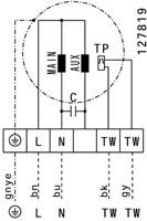 Ruck boxventilator met motor buiten luchtstroom 2610m³/h (MPC 250 E2 T20)-3