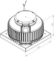 Ruck kunststof dakventilator met apparaatschakelaar - 450m³/h (DHA 220 E4P 01)-2