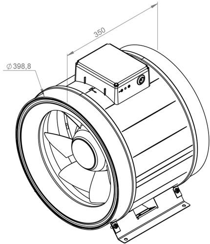 Ruck ETAMASTER M buisventilator 3300m³/h -Ø  400 mm (EM 400 E2M 01)-2
