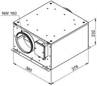 Ruck geïsoleerde boxventilator met EC-motor 590m³/h -Ø 160 mm (ISOR 160 EC 20)-2