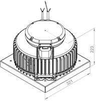Ruck kunststof dakventilator met apparaatschakelaar en EC motor- 1020m³/h (DHA 220 ECP 20)-2