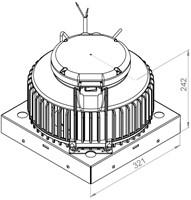 Ruck kunststof dakventilator met constante drukregeling en EC motor- 1370m³/h (DHA 250 EC CP 20)-2