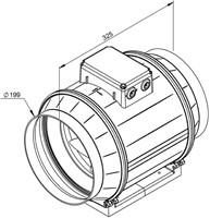 Ruck ETAMASTER buisventilator met EC motor 1300m³/h -Ø  200 mm (EM 200 EC 01)-2