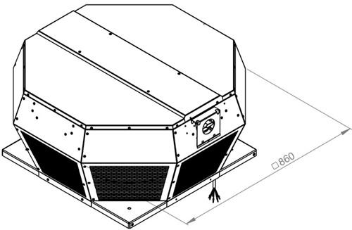 Ruck metalen dakventilator met apparaatschakelaar 9240m³/h (DHA 500 D4P 30)-2