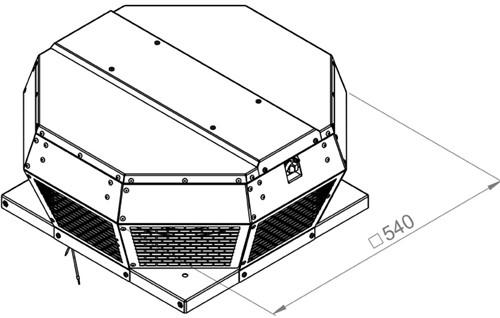 Ruck metalen dakventilator met EC motor en apparaatschakelaar 2015m³/h (DHA 280 ECP 30)-2