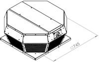 Ruck metalen dakventilator met EC motor en apparaatschakelaar 3100m³/h (DHA 355 ECP 30)-2