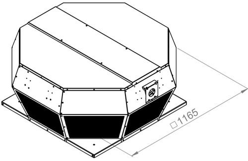 Ruck metalen dakventilator met EC motor en apparaatschakelaar 13100m³/h (DHA 560 ECP 30)-2