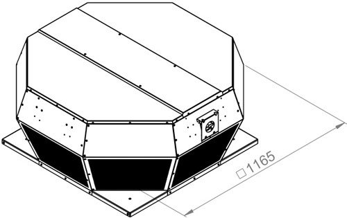 Ruck metalen dakventilator met EC motor en apparaatschakelaar 16280m³/h (DHA 630 ECP 30)-2